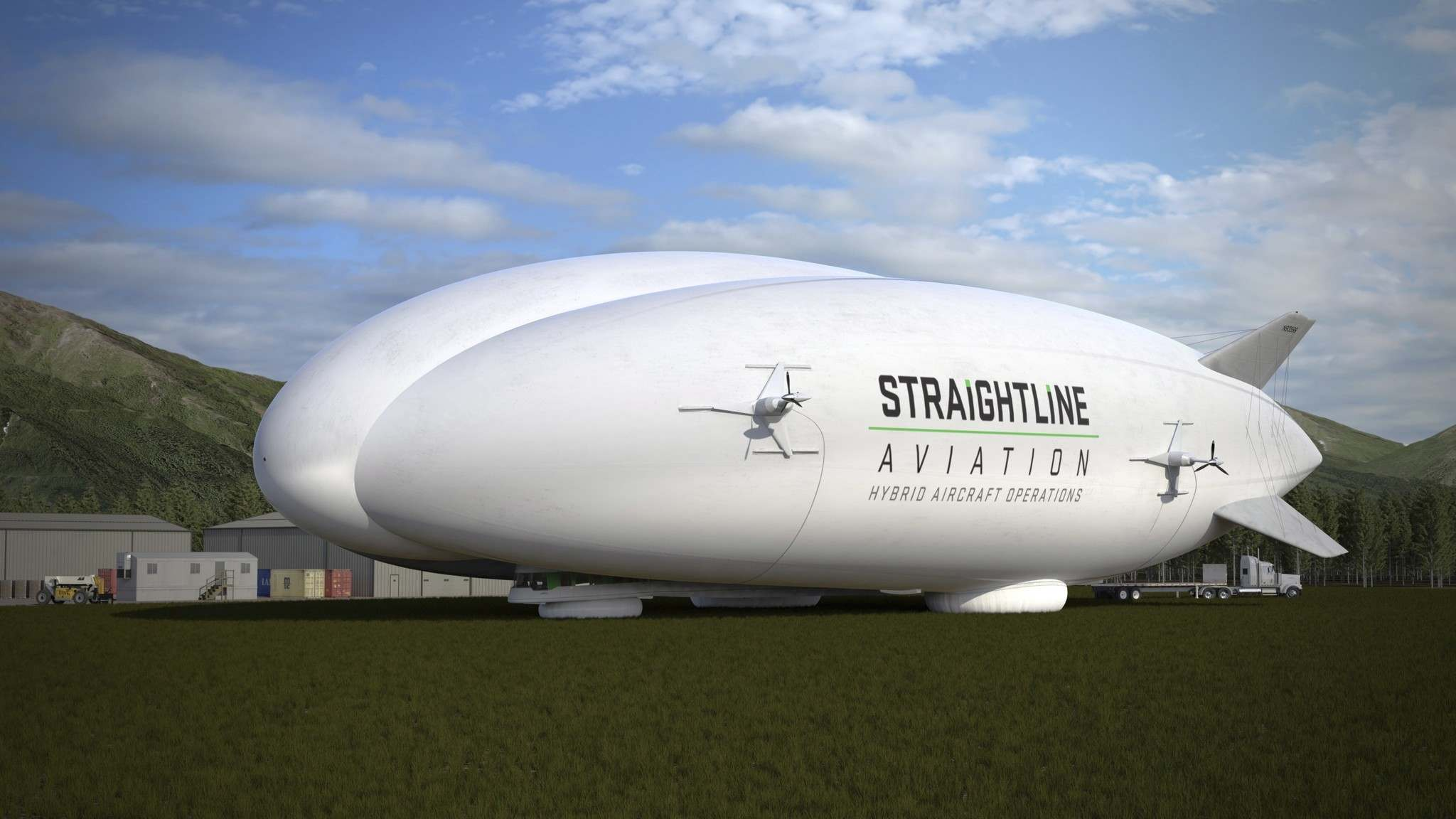 A Straightline Aviation hybrid aircraft is shown in a handout photo.