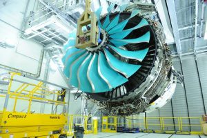 Rolls is validating performance of the composite fan in back-to-back tests against a titanium fan on a Trent 1000. Credit: Rolls-Royce