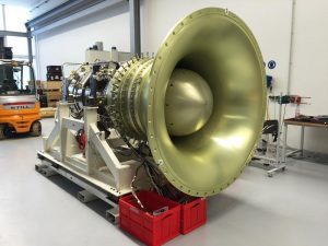 A 10-stage high-pressure compressor, the largest built for a Rolls's large engine, will undergo rig tests this year. The compressor will be a feature of both the Advance and UltraFan. Credit: Rolls-Royce