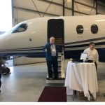 EnviroTREC Director gives a thumbs up to the Cessna Citation Latitude