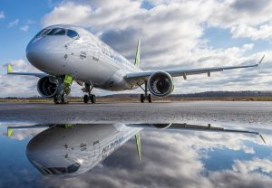 AirBaltic is set to become first operator of the PW1500G-powered Bombardier CS300 in December. Credit: Bombardier